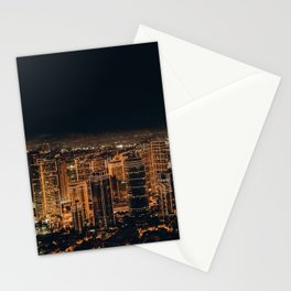 City of Lights Below (Color) Stationery Cards