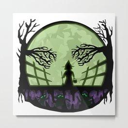 Drawlloween 2015 - Day 11 - Moon Metal Print
