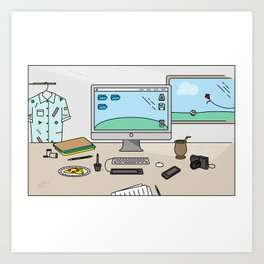 Time to work! Art Print
