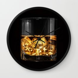 Glass of whiskey (color) Wall Clock
