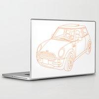 mini cooper Laptop & iPad Skins featuring Mini Cooper by Aimee Liwag