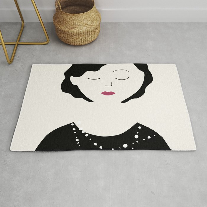 Coco in the sky with diamonds Rug