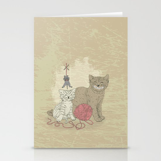 Naughty Cats Stationery Cards