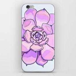 Purple Succulent iPhone Skin