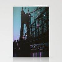 cincinnati Stationery Cards featuring Cincinnati by The Violet Noir