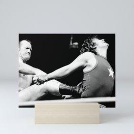 Wrestling Gene Kininski Mini Art Print