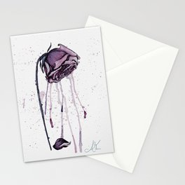Dying Roses in Watercolor Stationery Cards