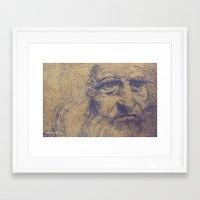 da vinci Framed Art Prints featuring Da Vinci by LK Winwright