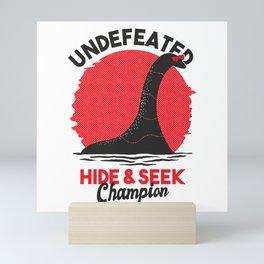 Hide and seek+Nessie+Best Gift Mini Art Print