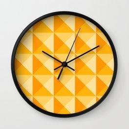 Geometric Prism in Sunshine Yellow Wall Clock