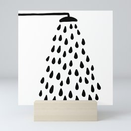 Shower in bathroom Mini Art Print