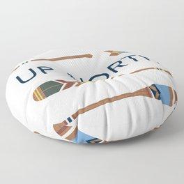 Up North Oars Floor Pillow