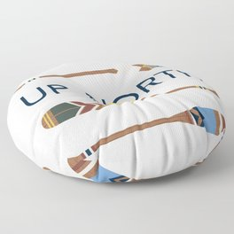 Up North Oars Floor Pillow