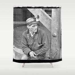 Kentucky Coal Miner Shower Curtain