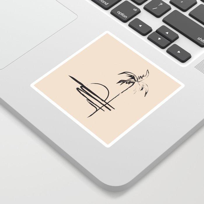 Abstract Landscpe Sticker