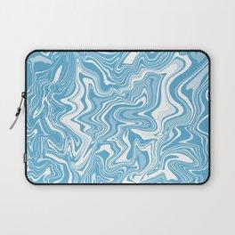 Blue Liquid Agate Laptop Sleeve