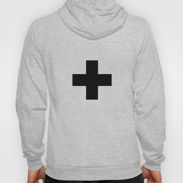 Swiss Cross white and black Swiss Design for minimalist home room wall art decor for apartment Hoody