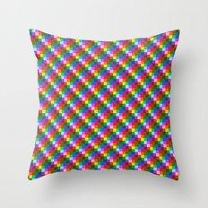 Pixel Static Throw Pillow