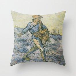 Vincent van Gogh - The sower (after Millet) Throw Pillow
