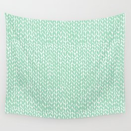 Hand Knit Mint Wall Tapestry