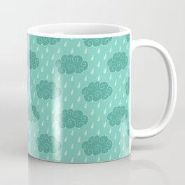 April Showers - Spring Rain and Clouds Pattern Coffee Mug