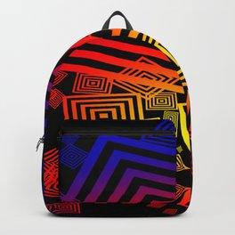 vector squares / black Backpack