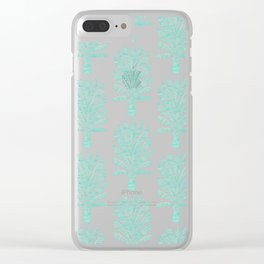 Palm Tree – Mint Palette Clear iPhone Case
