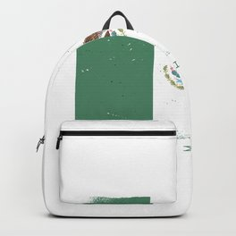 Mexico flag worn Backpack