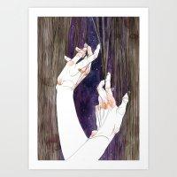 fabric Art Prints featuring Fabric by Jana Heidersdorf Illustration