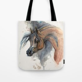 Arabian horse portrait Tote Bag
