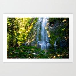 Proxy Falls 4 - Waterfall In Oregon Art Print