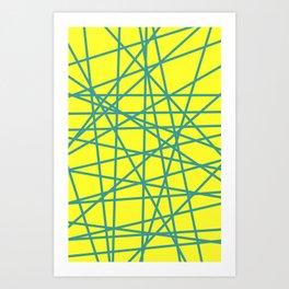 yellow random fun Art Print