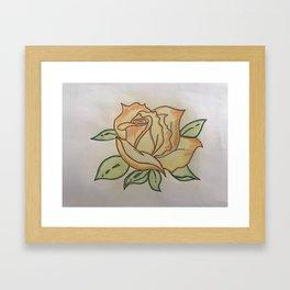 Een roos voor vallentyn Framed Art Print