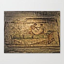 Pompeii Brothel Canvas Print