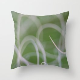 Abstract Image of Green Palm Leaves  Throw Pillow