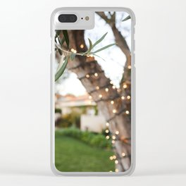 Olive Tree & Twinkle Lights Clear iPhone Case