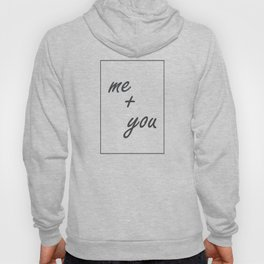 Me Plus You 395 Watercolor Map Yoga Quote Definiti Hoody