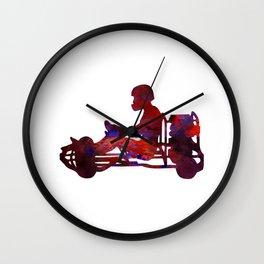 Go-karting Wall Clock