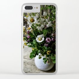July Bouquet Clear iPhone Case