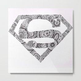 Super Symbol Doodle Metal Print