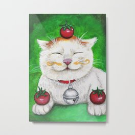 Shironeko - Cats with Moustaches Metal Print