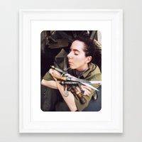 silent Framed Art Prints featuring Silent by Black Widow Honey