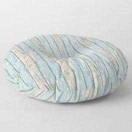 Rustic Beach Driftwood Vacation Blue Texture Floor Pillow