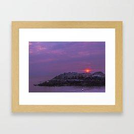 High fives in the sunrise Framed Art Print