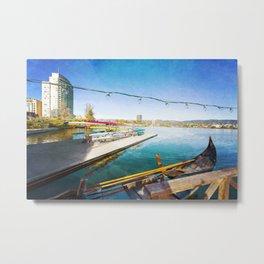 Lake Merritt Gondola Metal Print