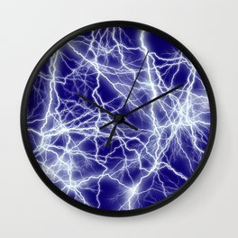 Electrical Lightning Sparks Wall Clock
