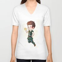 peter pan V-neck T-shirts featuring Peter Pan by Sunshunes