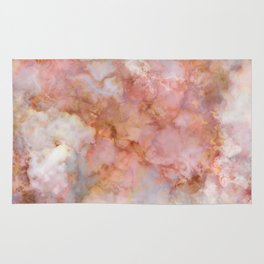 Beautiful & Dreamy Rose Gold Marble Rug
