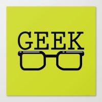 geek Canvas Prints featuring Geek by Farah Saheb