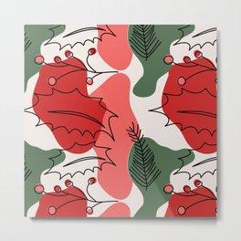 Christmas Holly Berries Metal Print